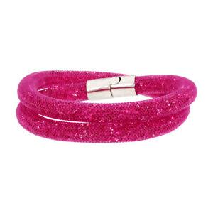 Swarovski Stardust Fuchsia Double Wrap Bracelet 5089833