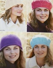KNITTING PATTERN FOR BERETS & HATS (HS57)