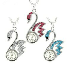 Swan Necklace Watch 18mm Snap In Watch