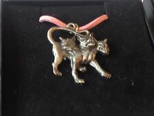 "Cerberus code dr90 In Greek   Made From English Pewter On 18"" Pink Cord Necklace"