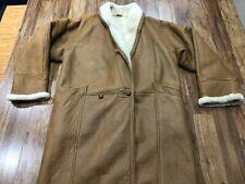 Mens Large - Vtg Four Lions Shearling Coat Jacket