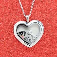 Rottweiler Heart Memory Locket Necklace, Dog Keepsake Jewelry, Rottie Pendant