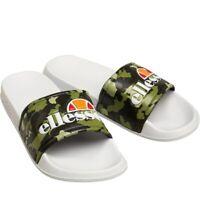 Ladies Ellesse Sliders Sandals Shoes SlipOns Sports Pool FlipFlop Camo Green