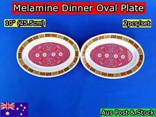 "NEW Chinese Style Melamine Dinner Oval Plate 10"" 25.5x18cm -2 pcs/set (B141) NEW"