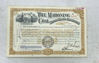 Mahoning Coal Railroad Company Stock Certificate Issued to the New York Central
