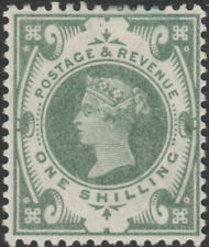 1887 JUBILEE SG211 1s DULL GREEN MINT HINGED K40(1)