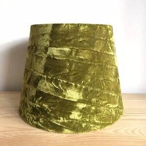 Bright Green Crushed Velvet Lamp Light Shade Modern Velour