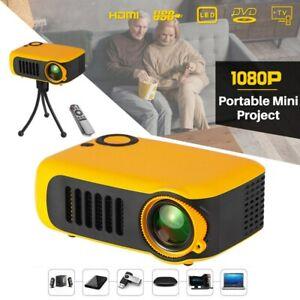Mini LED Projektor HD 1080P Heimkino Beamer Multimedia USB HDMI AV für Tablet TV