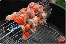 BBQ ROTISSERIE GRILL SHISH KEBAB WHEEL SKEWERS SPIT ROD FORKS KIT KABOB MAKER