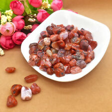 50g Natural Red Agate Quartz Raw Crushed Gravel Rough Rock Crystal Stone