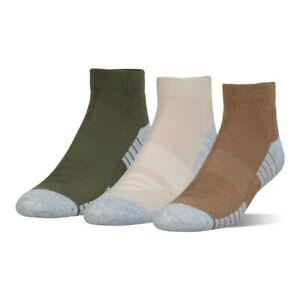 Under Armour UNISEX Heatgear Low Cut Socks - 3 Pairs - Size Medium NWT