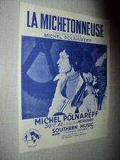 MICHEL POLNAREFF PARTITION MUSICALE BELGIQUE LA MICHETONNEUSE (2)
