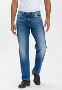 "CROSS DENIM JEANS "" Antonio "" HERREN Straight Relaxed fit Farbe: 115 Mid Blue"