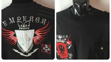 Royal Republic TShirt EMPEROR Pocket Embroidered Coat Of Arms Sz XL Sewn Black