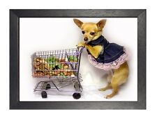 Cute - Dog - Chiwawa - Shopping Sweet Puppy Poster Trolley Small Animal Funny