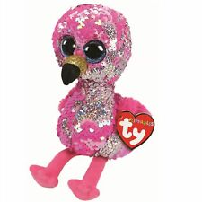 Ty Beanie Babies 36437 Flippables Medium Pinky the Flamingo Sequin