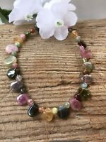 5.9g  LOVELY NATURAL TOURMALINE CRYSTAL BEAD HEALING BRACELET w/clasp S.AFRICA