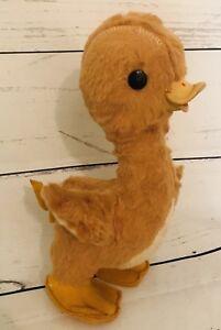"Vintage Stuffed Duck Mohair Gund Rubber Beak 11"" Old Plush"