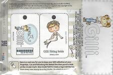 GILLI SITTING BRIDE Rubber Stamp