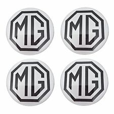 MG Resin Domed Stickers for Car Alloy Wheel Centres 75mm (set of 4)