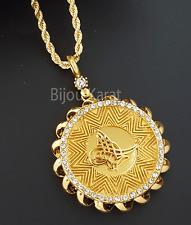 Osmanli Kolye Tugra Kette Goldkette 22 Ayar Altin Kaplama Gelin Münzen Anhänger