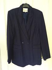 New! REISS Navy Blue Long Jacket Blazer - Size Large