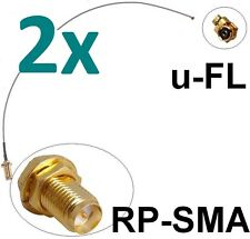 2x Antennen Adapter Kabel RP-SMA u-FL Wlan Stück Speedport Fritz!Box Pigtail IPX