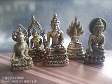 More details for a collection of 14 brass buddha statues or buddhas figures or amulets buddhism