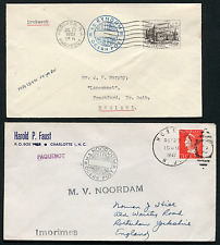 NETHERLANDS: (14961) Paquebot/Hoboken cancel/covers