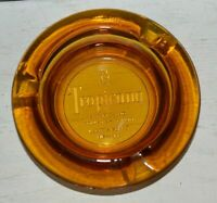 VINTAGE TROPICANA HOTEL AND COUNTRYCLUB GLASS AMBER ASHTRAY LAS VEGAS