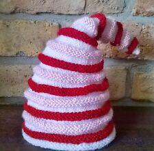 niedliche Zwergenmütze fürs Baby Mädchen -rot-weiß-rosa - Handarbeit - Neu!!!