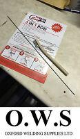 1 x Aluminium Welding, Brazing + Soldering Low Temp Durafix Easyweld Rods+Brush