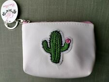 cactus coin purse 4x3 in zipper pouch