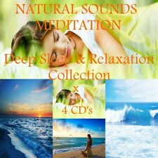 4 X CD's:NATURAL SOUNDS COLLECTION FOR DEEP SLEEP, MEDITATION & RELAXATION