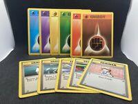 Original Vintage Pokemon Base Set Cards Complete Energy And Common Trainers Set