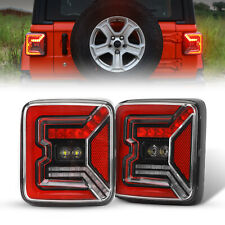 For Jeep Wrangler JL 2018 2019 LED Tail Lights Running Turning Reverse Lamp Pair