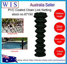 Black PVC coated Chain wire mesh fence,1.5m x20m,50x50mm,3.0mm,42Kg/roll-67190