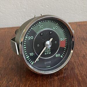 Porsche 356 C Mechanical Tachometer Gauge TACH Original VDO 12.63 w/ Bracket