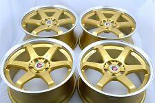 18 Drift gold Wheels Rims G25 G35 350Z Solara 3000GT Stealth MKT Eclipse 5x114.3