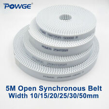 White PU HTD 5M Open Timing Belt Width 10/15/20/25/30/50mm Polyurethane Steel