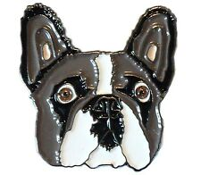 French Bulldog Frenchie Dog Metal Enamel Pin Badge 25mm NEW