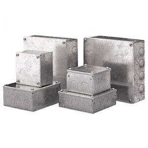Pre Galvanised Junction box Steel Adaptable box enclosure ALL SIZES