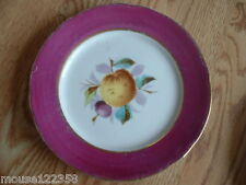 Vintage Fruit Plate Peach  gold trim