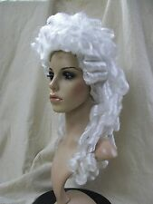 White Baroque Wig French Queen Marie Antoinette Revolutionary Colonial Victorian