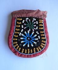 Vintage Native American Beaded Flint Pouch