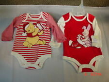 New Nwt 2 Disney Christmas Creepers 3-6 month Pooh Piglet Cotton Sleepers Warm