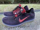 NIKE Free RN Flyknit Men's Size 12 Running Athletic Purple Sneakers