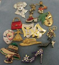 Brooches Pins (J J) Vintage Lot Of Figural