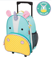 Brand new in bag Skip Hop zoo kids rolling luggage in unicorn