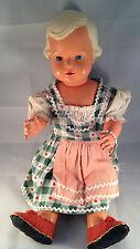 Cellba Nixe antike Puppe Inge mit Dirndl 50 cm 1950er Jahre